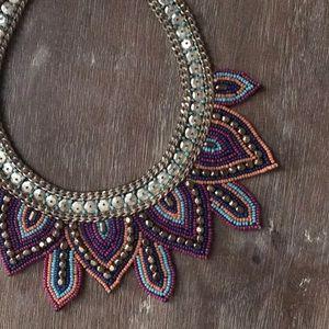 Jewelry - NWT Statement beaded bib necklace